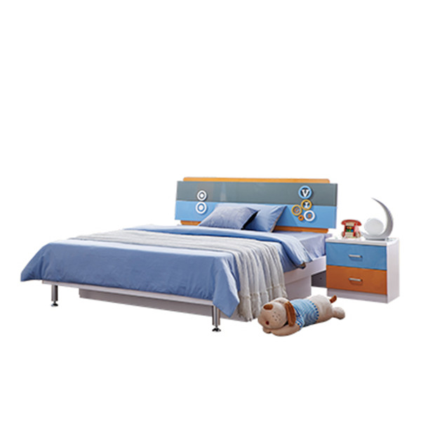 8106 wholesales double bed factory price modern bedroom furniture set