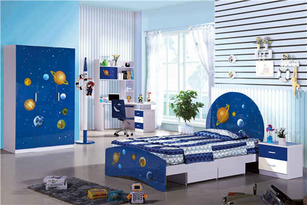 8321-2 factory wholesales price stars bedroom furniture shinning kids bed sets