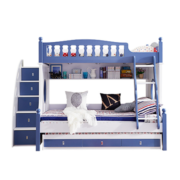 611 hot sell wooden kids bunk bed set furniture