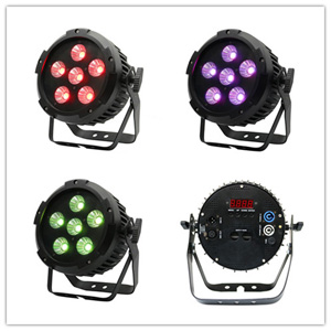 stage light 6X20W RGB 3in1 cob led par light