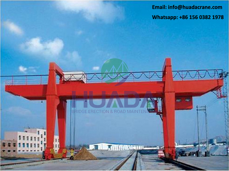 Good quality box type 60 ton u shape rmg double girder gantry crane for 20' 40' container