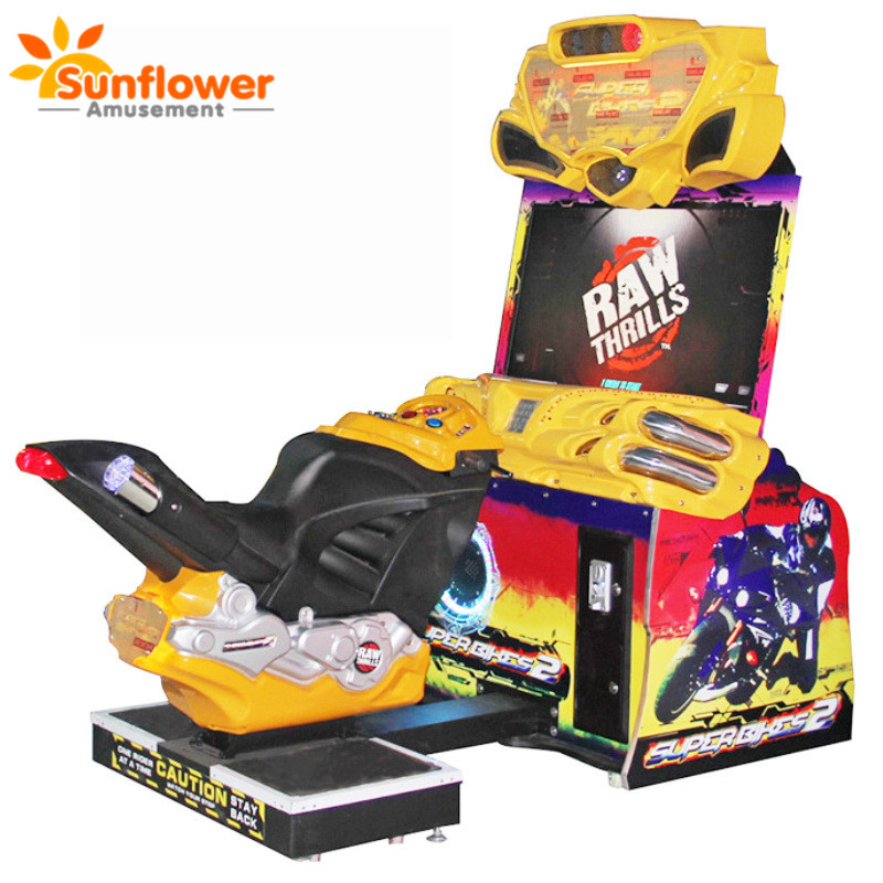 Electronic full motion street motorcycle superbike 2 game machine