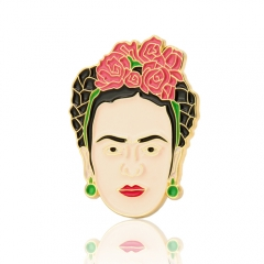 Frida Self-Portrait Enamel Pin