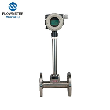 Digital Vortex Flowmeter, Full Tube Stainless Steel Model Vortex Flow Meter