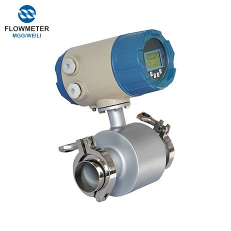 Stainless Steel Sanitary Electromagnetic flowmeter China, Food Industry Flowmeter