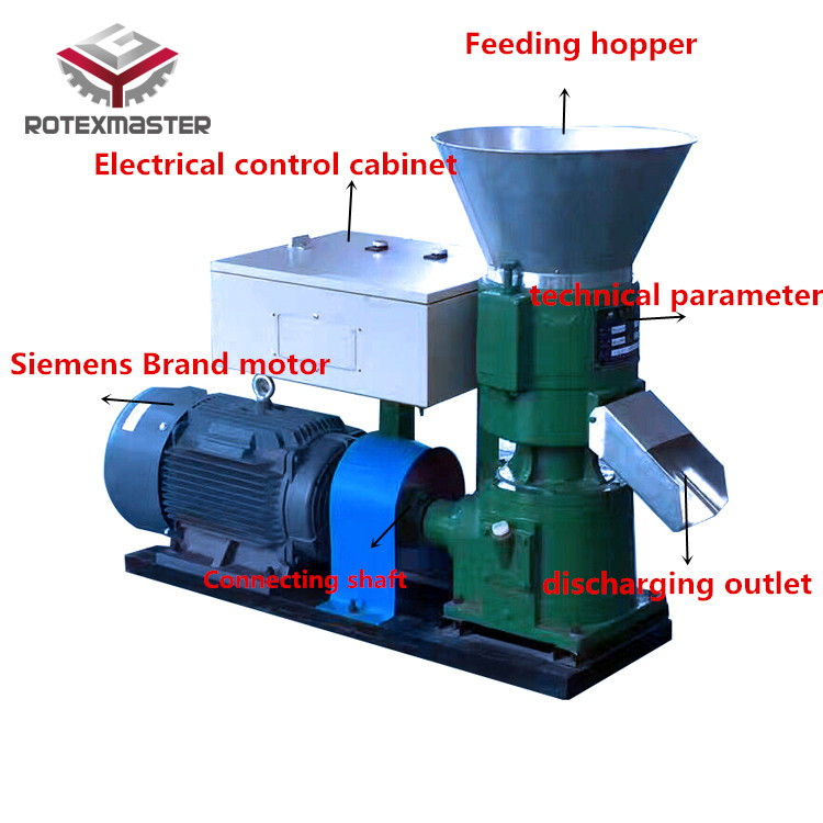 Mini animal feed pellet making machine/poultry feed pellet machine price
