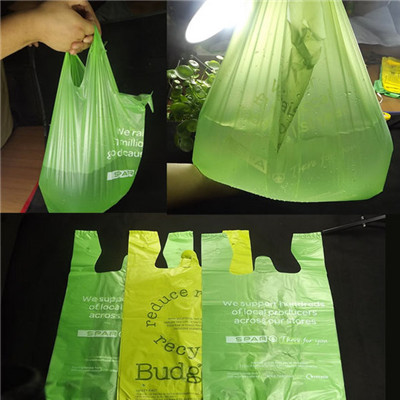 China  high quality Reusable 100% Biodegradable Plastic Shopping vest Bag