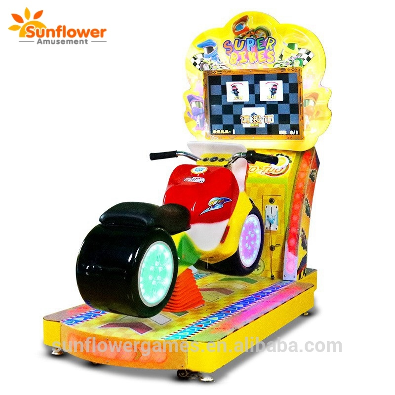 Sunflower kids motor bike magic car racing,yellow car racing machine