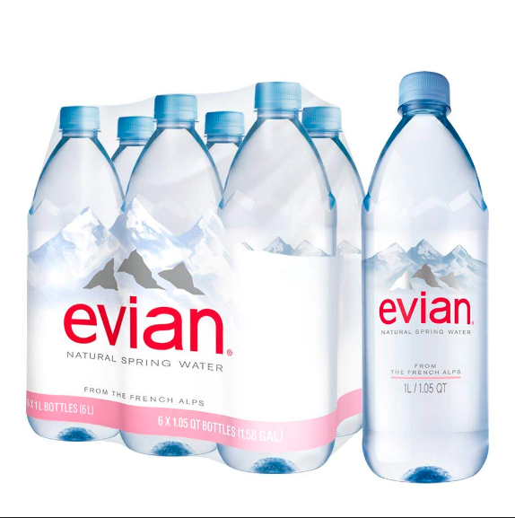 Evian Natural Mineral Water in 330ML, 500ML, 750ML, 1L, 1.5L PET BOTTLES