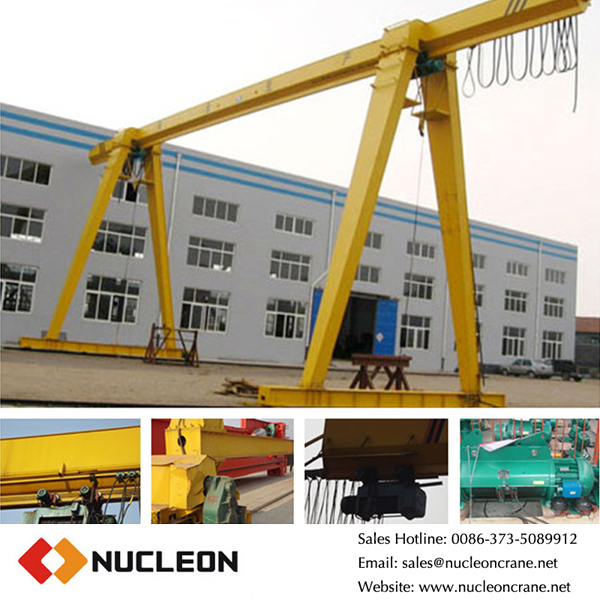 single girder gantry crane with electric hoist