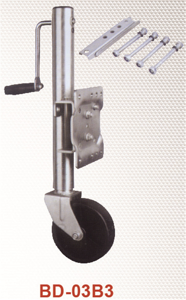 Trailer jack 1000lbs Zinc plated with swing bracket