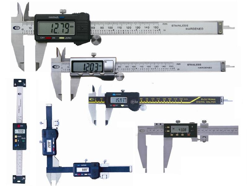 Electronic Measuring Equipment : Digital caliper excess stock and used instruments