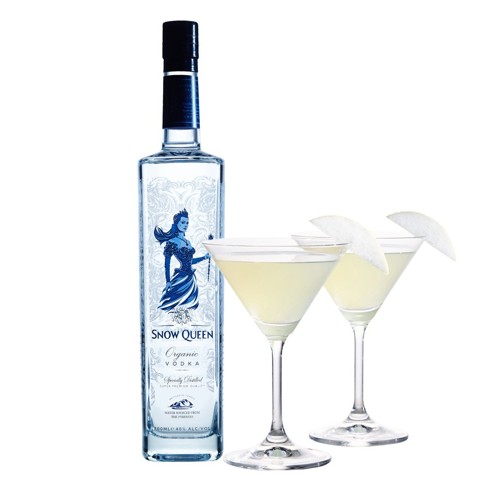 Snow Queen Vodka 70cl French Organic Pure Wheat Vodka 700ml / 40%