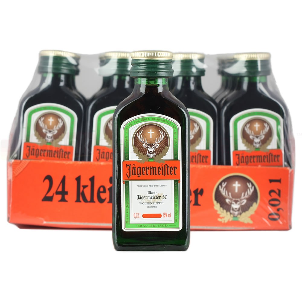Jagermeister Liqueur 24x 2cl Miniature Pack Herbal Liqueur 24x 20ml / 35%