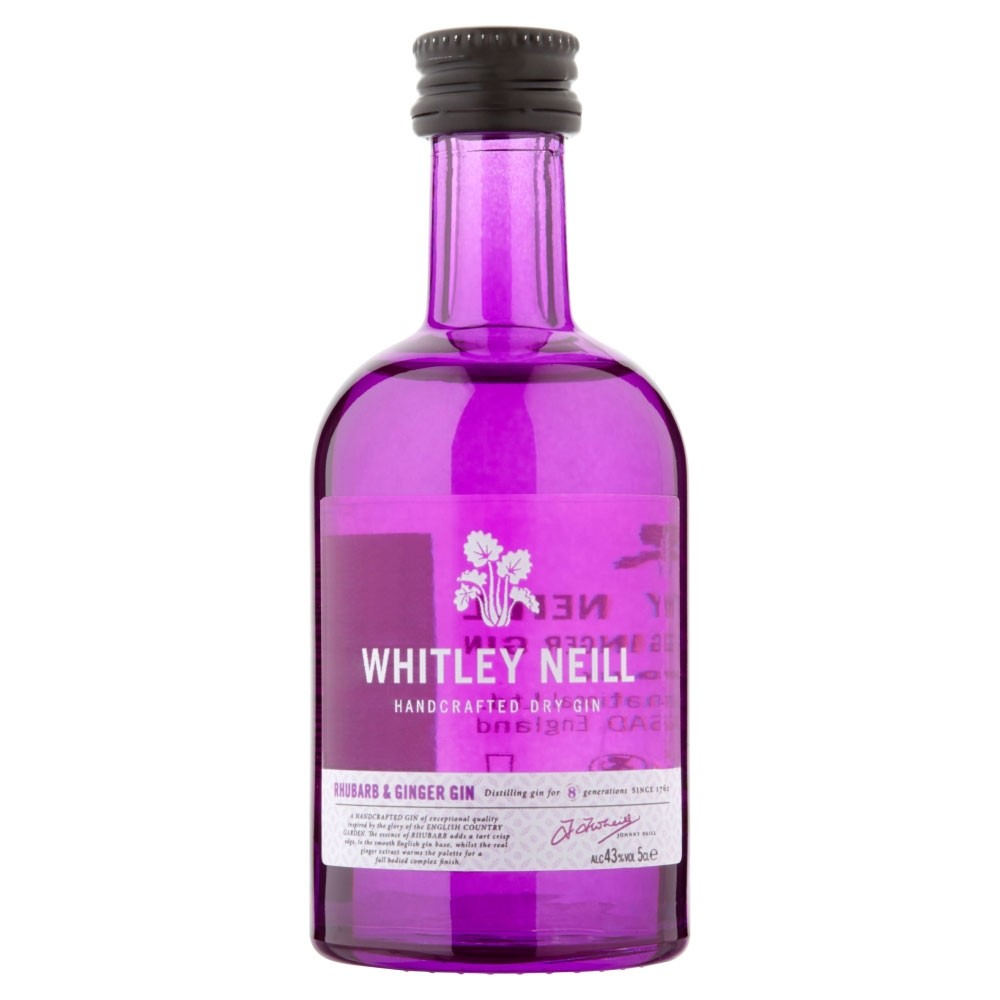 Whitley Neill Rhubarb & Ginger Gin 5cl 50ml / 43%