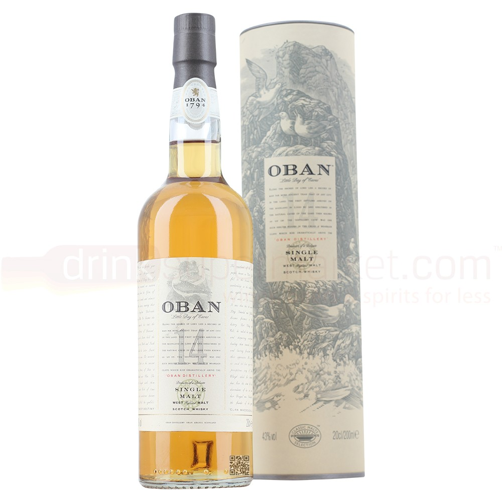 Buy Oban 14 Year Whisky 20cl Highland Single Malt Scotch Whisky 200ml / 43%