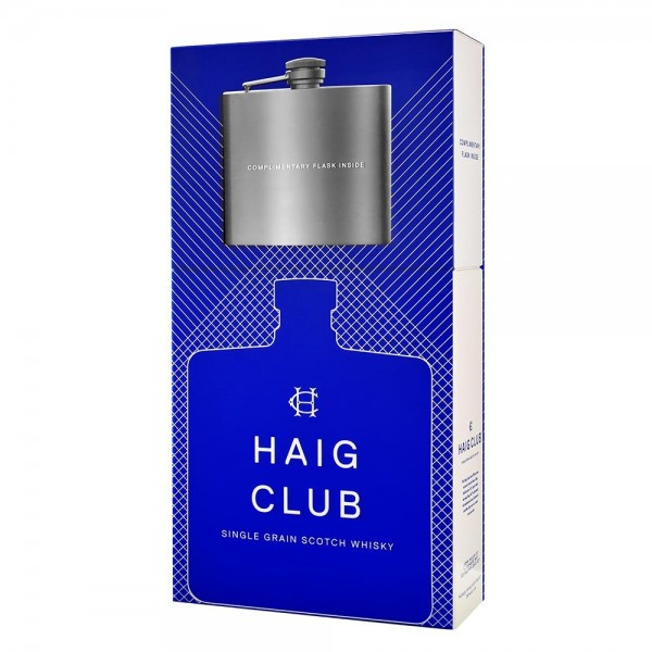Buy Haig Club Single Grain Whisky 70cl Gift Set With Hip Flask