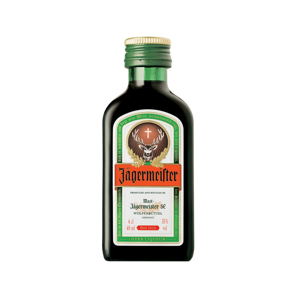 Buy Jagermeister Herbal Liqueur 24x 4cl Miniature Pack 24x 40ml / 35%