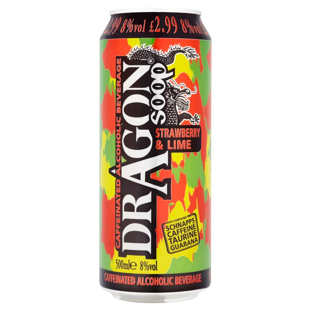 Buy Dragon Soop Strawberry & Lime 500ml/ 8%