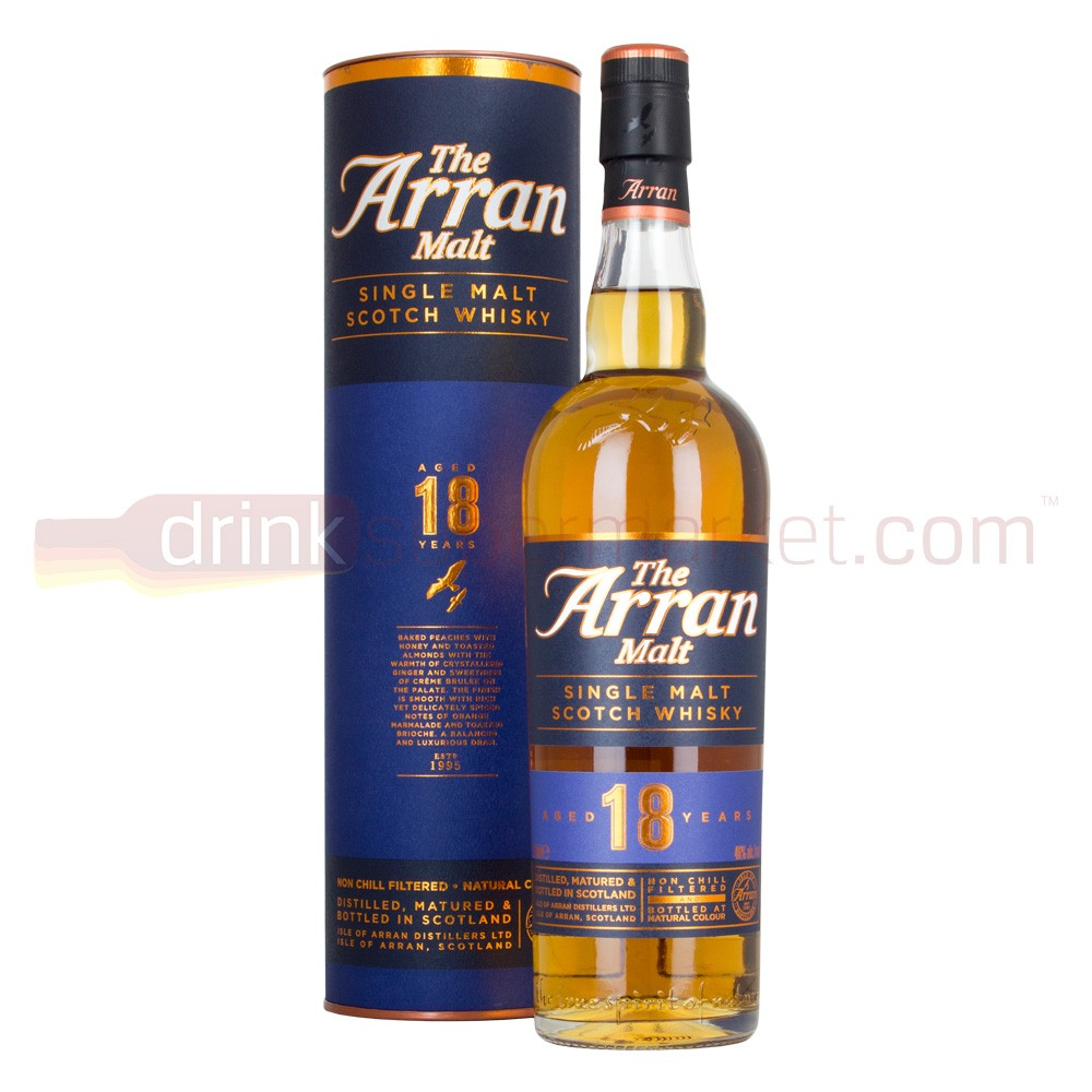 Buy Arran 18 Year Whisky 70cl Single Malt Scotch 700ml / 46%