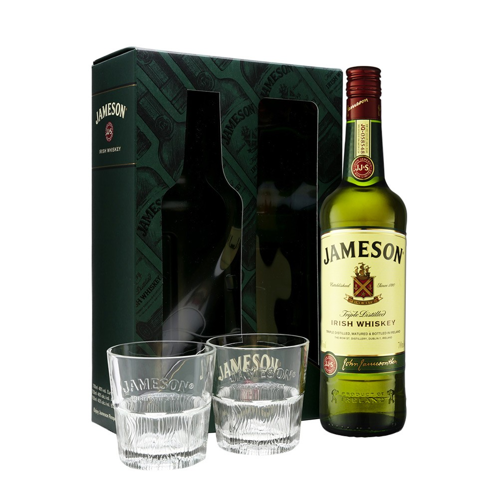 Buy Jameson Irish Whiskey 70cl Gift Pack With Tumblers Irish Whiskey 700ml / 40%