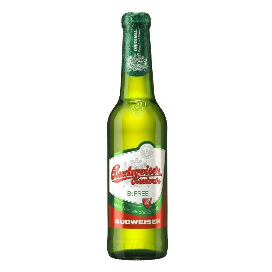 Budweiser Budvar Non-Alcoholic Beer 330ml Alcohol Free Beer 330ml / 0.5%