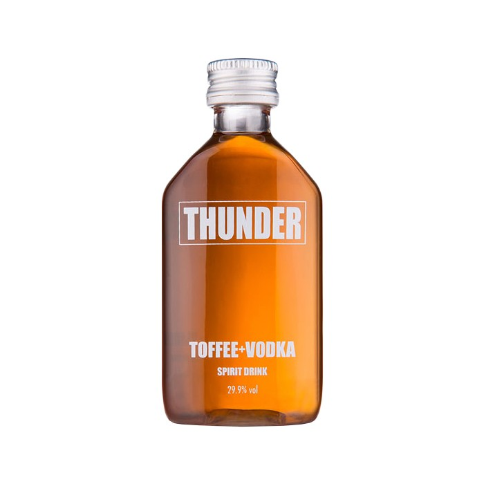 BUY Thunder Toffee And Vodka Spirit Drink 5cl Miniature English Toffee Flavour Vodka Spirit Drink 50ml / 29.9%