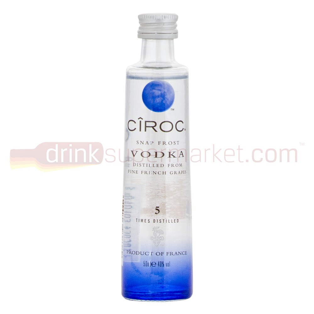 BUY Ciroc Original Vodka 5cl Miniature French Grape Vodka 50ml / 35%