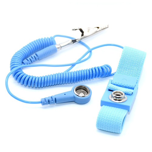 Economic high quality 4mm 10mm Snap Alligator Clip ESD Adjustable Fabric Antistatic Wrist Strap wholesale
