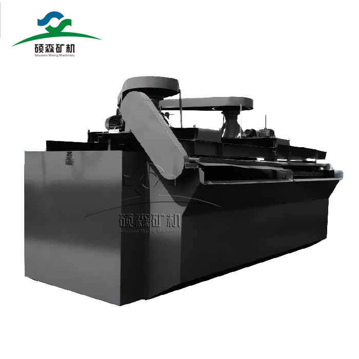 Flotation machine for copper ore processing