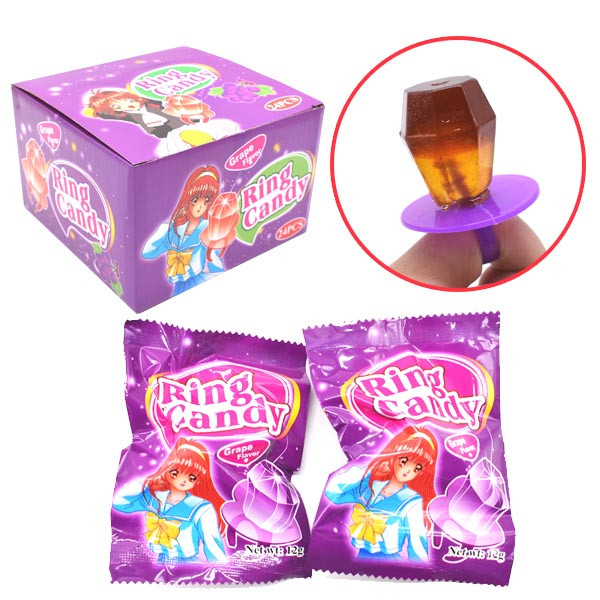 Diamond Ring Shaped Strawberry Flavour Candy