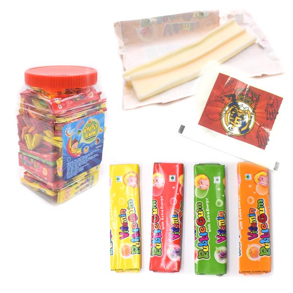 Hot Sale Sticker Tattoo Bubble Gum with cheaper price
