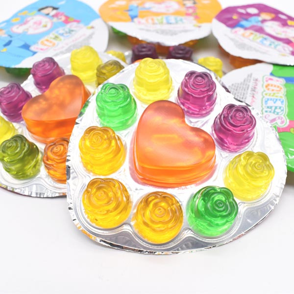 Wholesale Heart Shaped Mini Fruit Jelly Cup