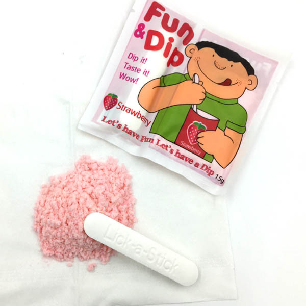 Fun and Dip Sour Powder Candy with Tablet Stick Candy