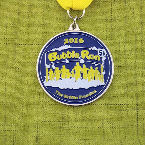 Bubble Run Custom Soft Enamel Medals