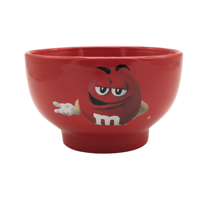 Cute Chocolate Bean Creative Expression Pack Ceramic Bowl -700ml