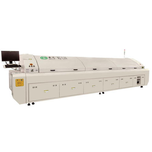MJ-L10 Large Lead-Free Hot Air 10 Temperature Zones Reflow Oven, SMT Reflow Soldering Machine for LE
