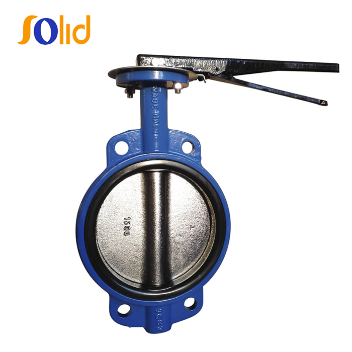 PN10/16 Wafer Type Concentric Butterfly Valve with Lever Operator
