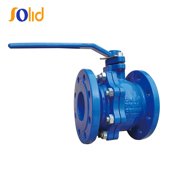 DIN3357 PN10/16 GG25 Cast Iron Double Flange Ball Valve Manufacturers