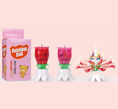 Cartoon Lotus Birthday Candles