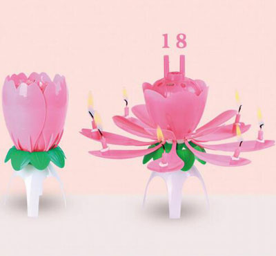 Lotus Number Birthday Candles