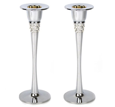 Table Taper Candle Holder In Silver