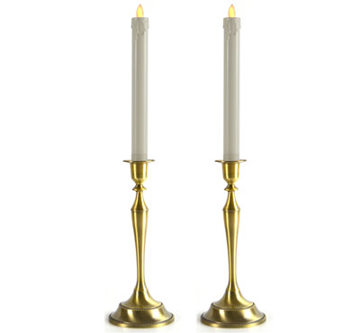 Antique Candlestick Holder In Gold