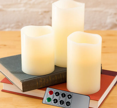 Remote Control Flameless Led Candle With 8 Key Remote For Church Votive