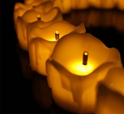Flameless Yellow Flicker Tear Wax Drop Candle Mini Battery Operated Tea Lights New Arrive Realistic Led Tea Light Candle