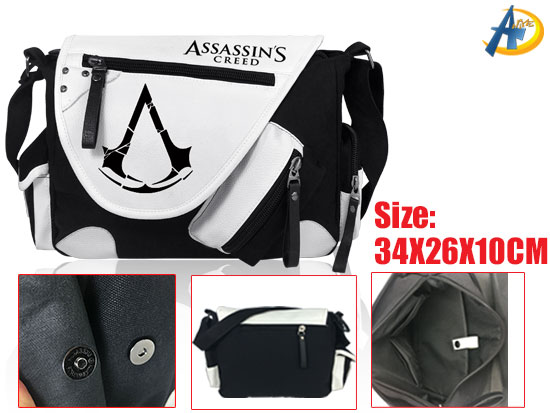 Assassins Creed Game Canvas Satchel/Shoulder bag,anime Bags,anime plush bags,anime Wholesale