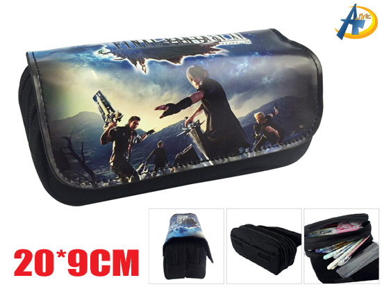 Final Fantasy Game Canvas pencil bag,pencil bag,wholesale anime pencil bag,anime pencil bag