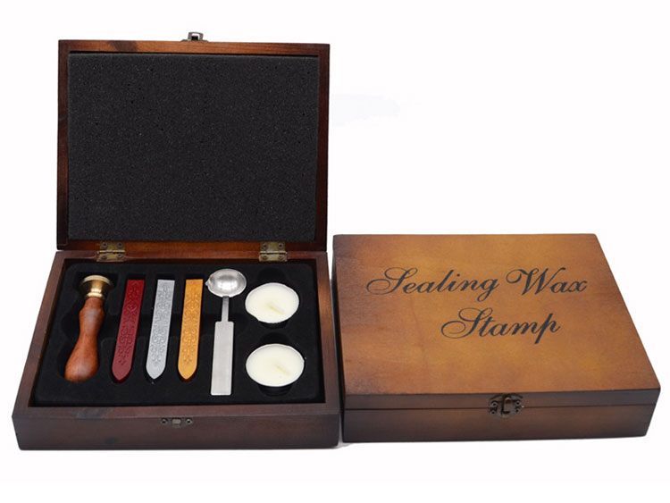 Wax Seal Stamp Set With Classic Wooden Box