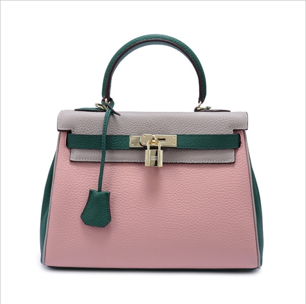 manufacturer custom designer woman handbag genuine leather shoulder bag