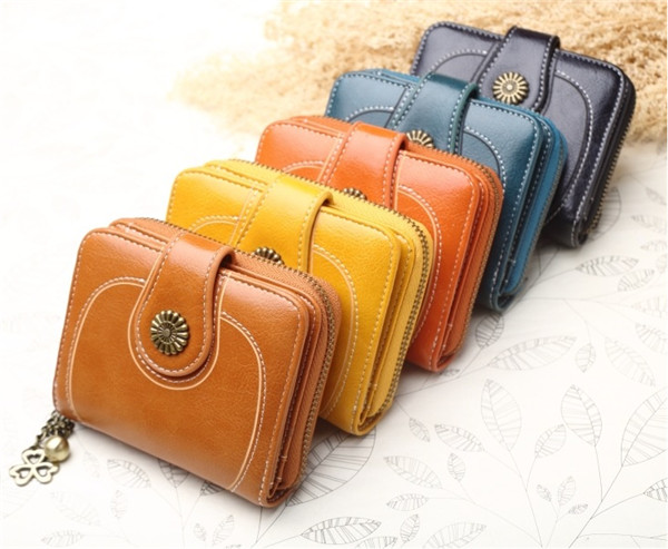 Women's Leather Secure Spacious Cute Ladies Zipper Card Wallet Small Purse